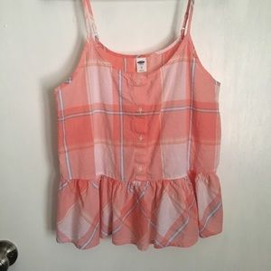 Old navy.Baby doll plaid button up top size XS